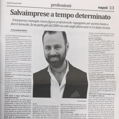 Luca Genovese Temporary manager cross hub